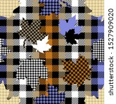 falling maple leaves. seamless... | Shutterstock .eps vector #1527909020
