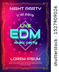 dj electronic music party... | Shutterstock .eps vector #1527909026