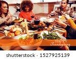 happy friendsgiving against... | Shutterstock . vector #1527925139