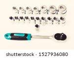 Socket Wrench Isolated On White ...