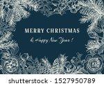 christmas botanical card....   Shutterstock .eps vector #1527950789