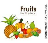 fruits icons over white... | Shutterstock .eps vector #152796356