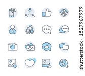 set of social networks related... | Shutterstock .eps vector #1527967979