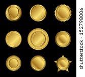vector golden medal blank... | Shutterstock .eps vector #152798006