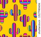 cacti with mexican blanket... | Shutterstock .eps vector #1527980606