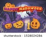 happy halloween. card   flyer   ... | Shutterstock .eps vector #1528024286