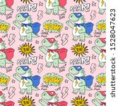 seamless textile pattern with... | Shutterstock .eps vector #1528047623