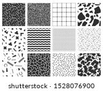 memphis seamless patterns with... | Shutterstock . vector #1528076900