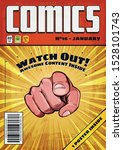 comic book old style cover... | Shutterstock .eps vector #1528101743