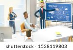 people work in a team and... | Shutterstock . vector #1528119803