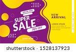 super sale discount banner ...   Shutterstock .eps vector #1528137923