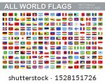 all world flags   vector set of ... | Shutterstock .eps vector #1528151726
