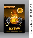 halloween musical party night... | Shutterstock .eps vector #152815514
