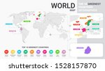 world map illustration with... | Shutterstock .eps vector #1528157870
