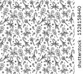 christmas seamless pattern with ... | Shutterstock . vector #1528158440