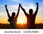 successful couple of young... | Shutterstock . vector #152815883