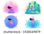 set flat 2d concepts by doing... | Shutterstock .eps vector #1528169879
