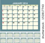 Calendar For 2014  In English