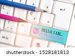Word Writing Text Hello I Am In ...