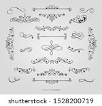 decorative floral borders... | Shutterstock .eps vector #1528200719