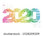 greeting card for 2020 new year.... | Shutterstock .eps vector #1528209209