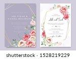 beautiful wedding invitation...   Shutterstock .eps vector #1528219229