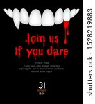 vampire teeth and blood. join... | Shutterstock .eps vector #1528219883