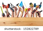 Diy tools set collage. isolated ...