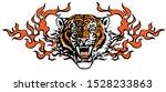 Head Of Roaring Tiger In...