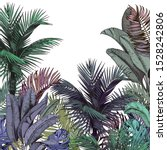 colorful tropical palm trees.... | Shutterstock .eps vector #1528242806
