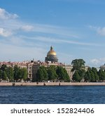 Neva River And St. Isaac\'s...