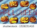 set of eight pumpkins for...   Shutterstock .eps vector #1528251410