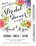 invitation or wedding card with ...   Shutterstock .eps vector #152825504