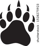 Vector Image Of Bear Paw