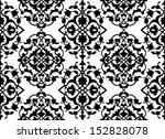 seamless wallpaper pattern | Shutterstock .eps vector #152828078