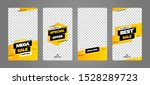 stories template set for banner ... | Shutterstock .eps vector #1528289723