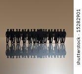 black people silhouette | Shutterstock . vector #15282901