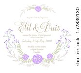 wedding card or invitation with ... | Shutterstock .eps vector #152830130