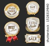 golden sale labels retro... | Shutterstock . vector #1528319840