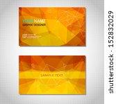 gold modern business card. set. ... | Shutterstock .eps vector #152832029