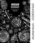 indian food illustration. hand... | Shutterstock .eps vector #1528324163