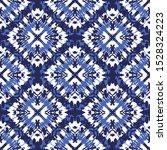 tie dye shibori diamonds on... | Shutterstock .eps vector #1528324223