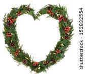 Christmas Heart Wreath With...