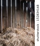 Straw In The Old Barn With...