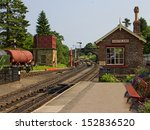An Old Railway Station With...