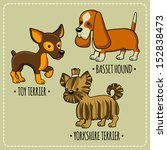 set of illustrations with funny ... | Shutterstock .eps vector #152838473