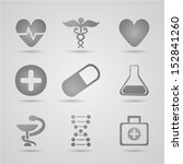 set of medical symbols | Shutterstock .eps vector #152841260