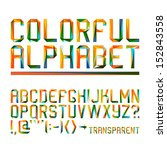 colorful alphabet  10eps  | Shutterstock .eps vector #152843558