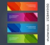 vector abstract design banner... | Shutterstock .eps vector #1528445450