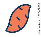 sweet potato filled outline... | Shutterstock .eps vector #1528488836